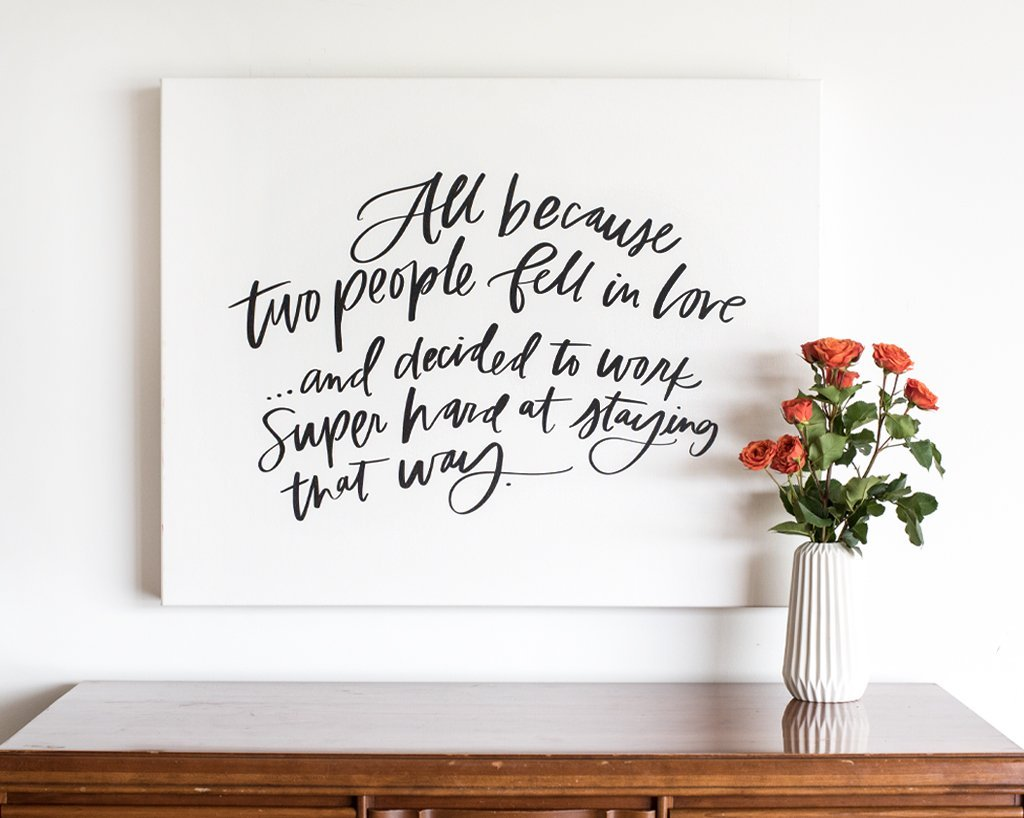 All Because Two People, Boutique Canvas