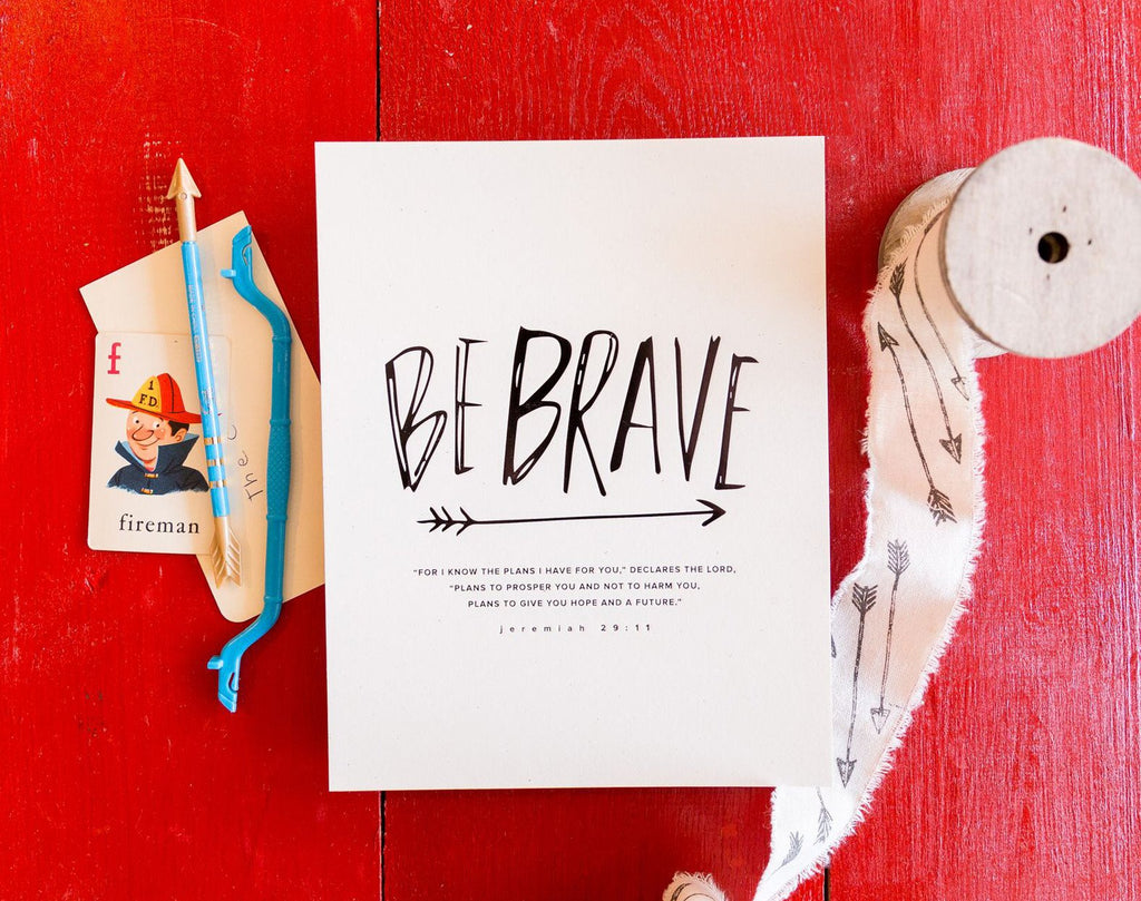 Brave Arrow (Jeremiah 29:11) Art Print