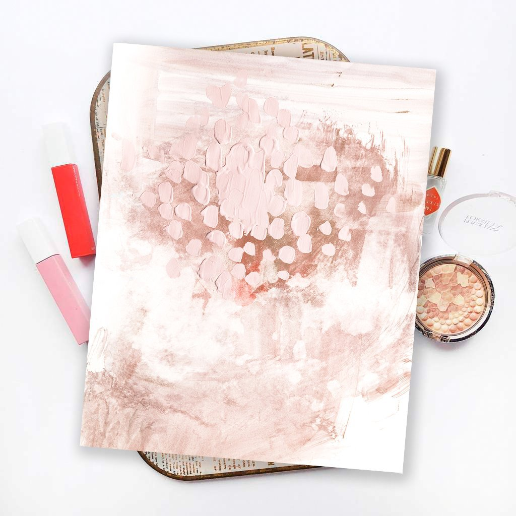Blush Bungalow Abstract