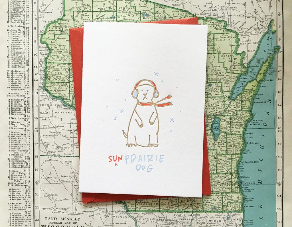 Sun Prairie Dog Card