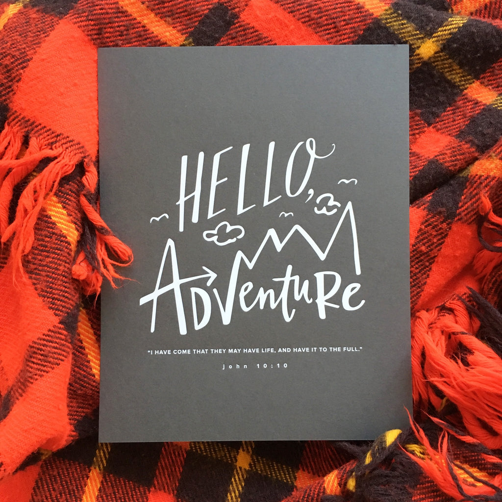 No. 42, Hello, Adventure Print