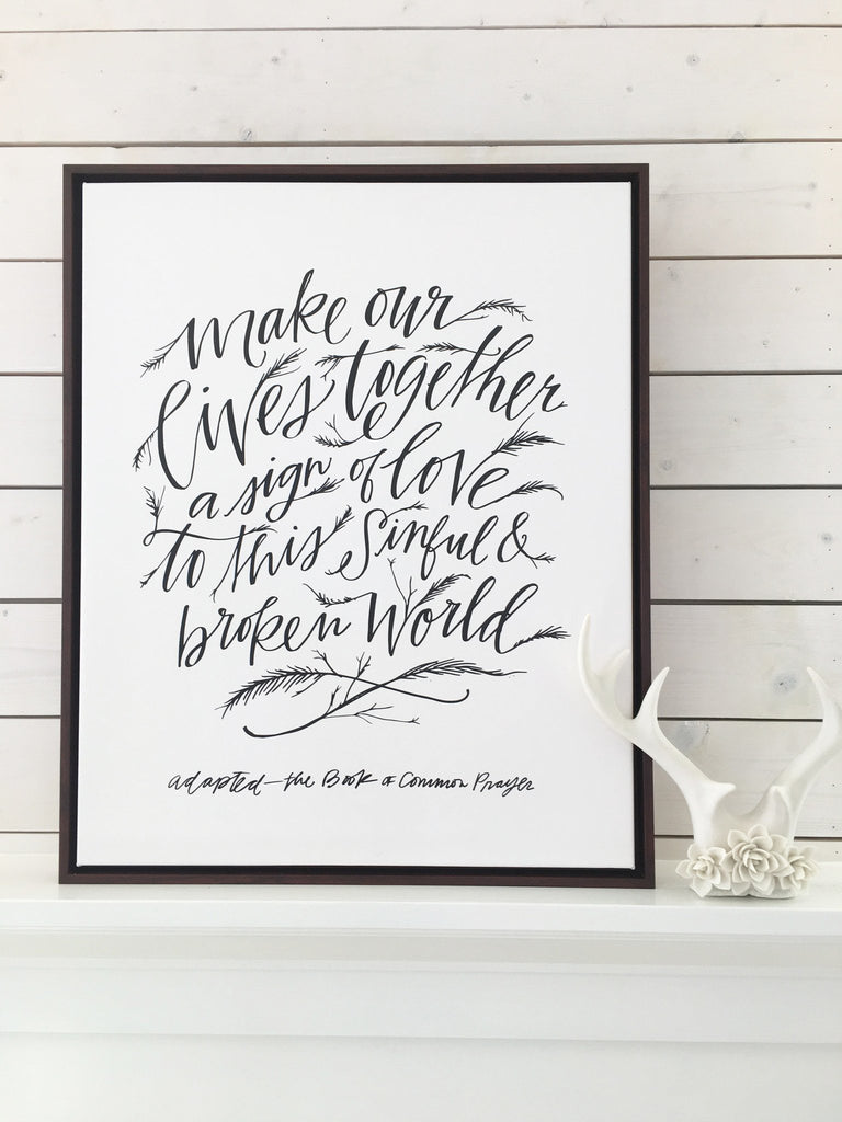 Our Lives Together Canvas