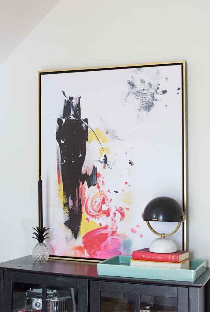 Black Honey Abstract Canvas