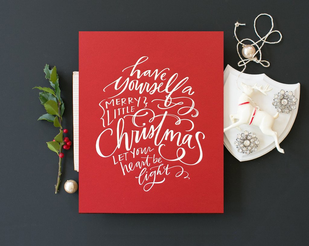 No. 98, Merry Little Christmas Print