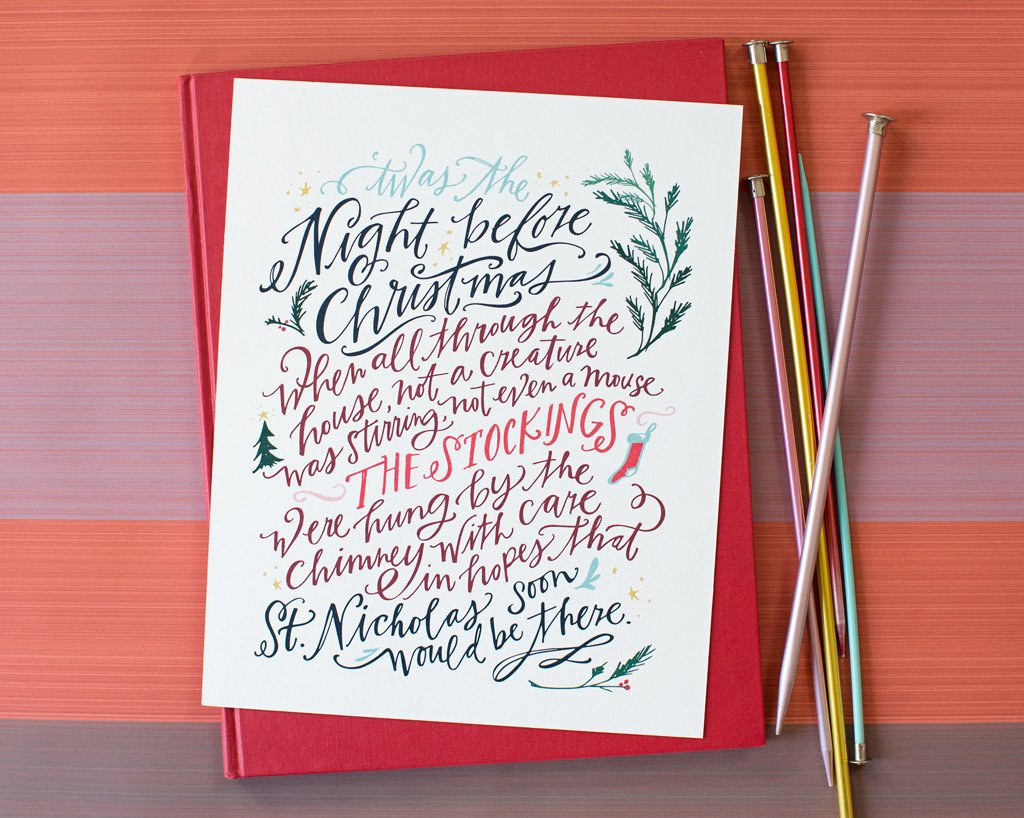 Night Before Christmas Print