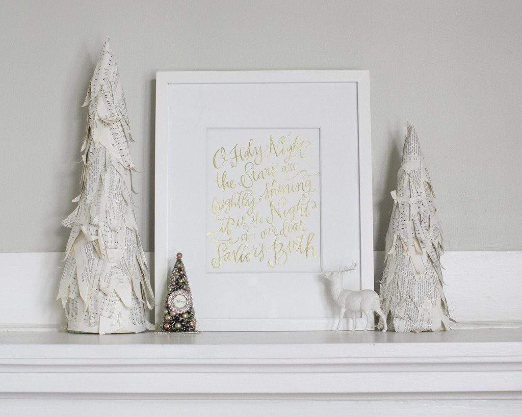 O Holy Night Print (Gold Foil)