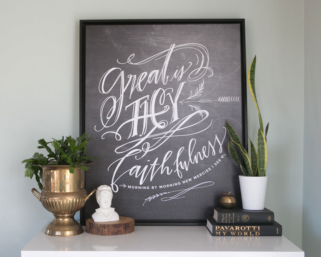Great is Thy Faithfulness Canvas