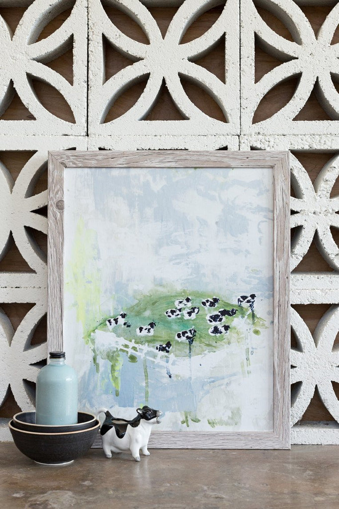 Contented Cows, Abstract Canvas