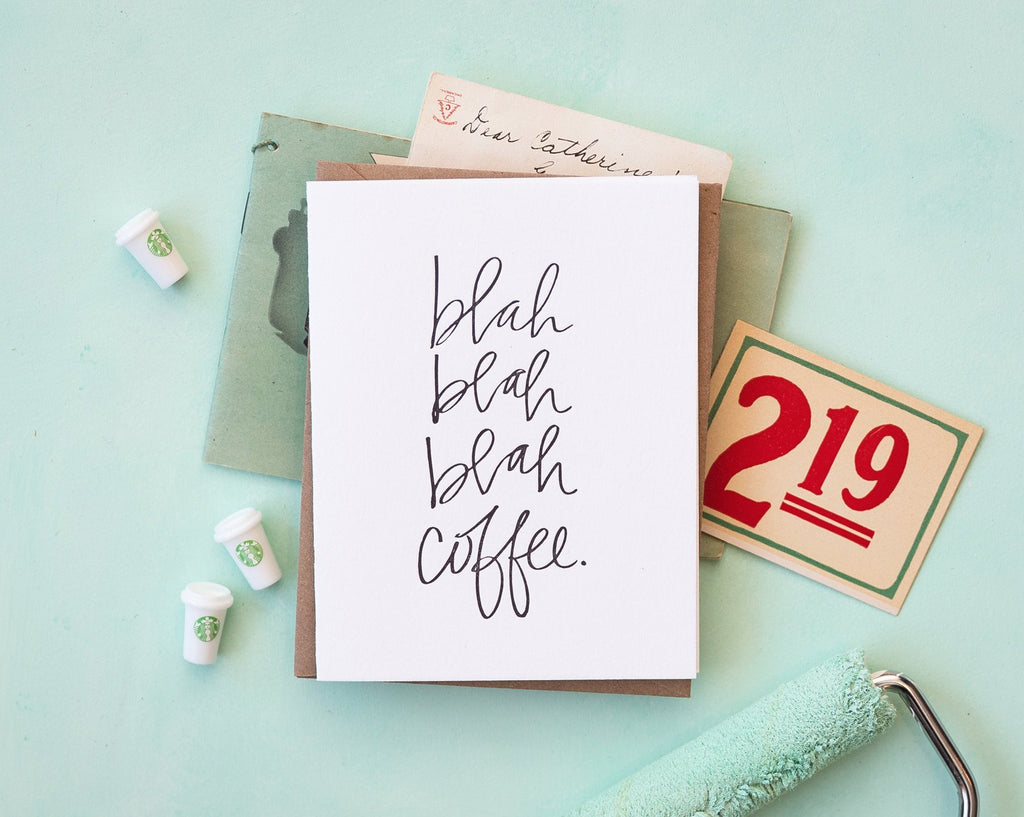 Blah Blah Coffee Card