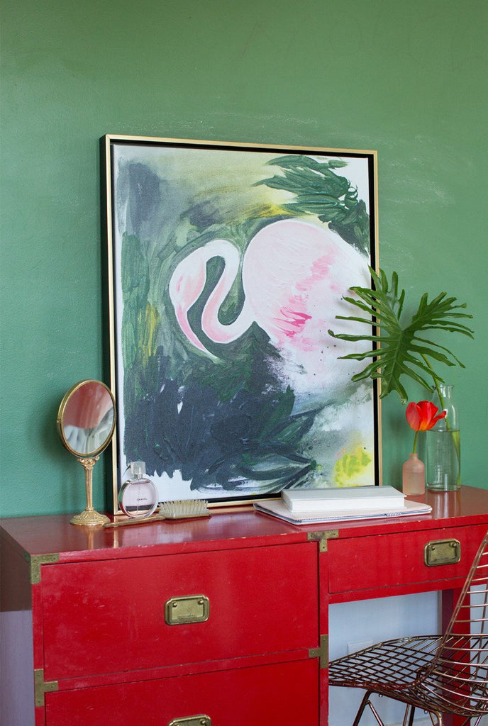 Flamingo Abstract Canvas