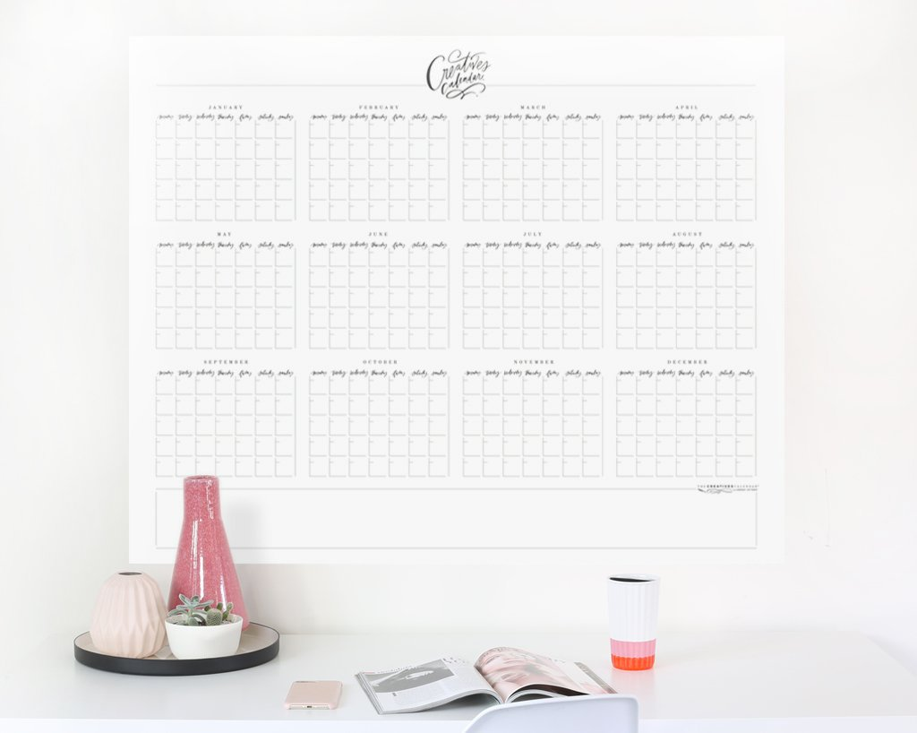 Yearly Creatives Calendar® Wall Peel, Calligraphy Days