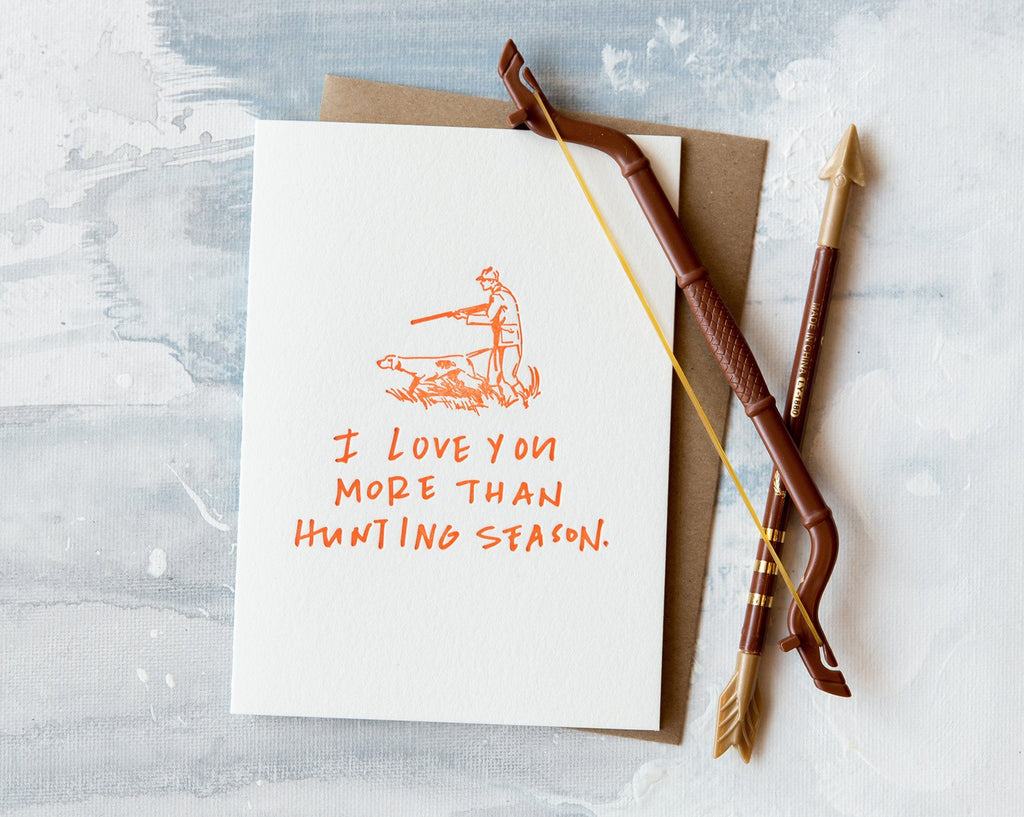 Hunting Love Card