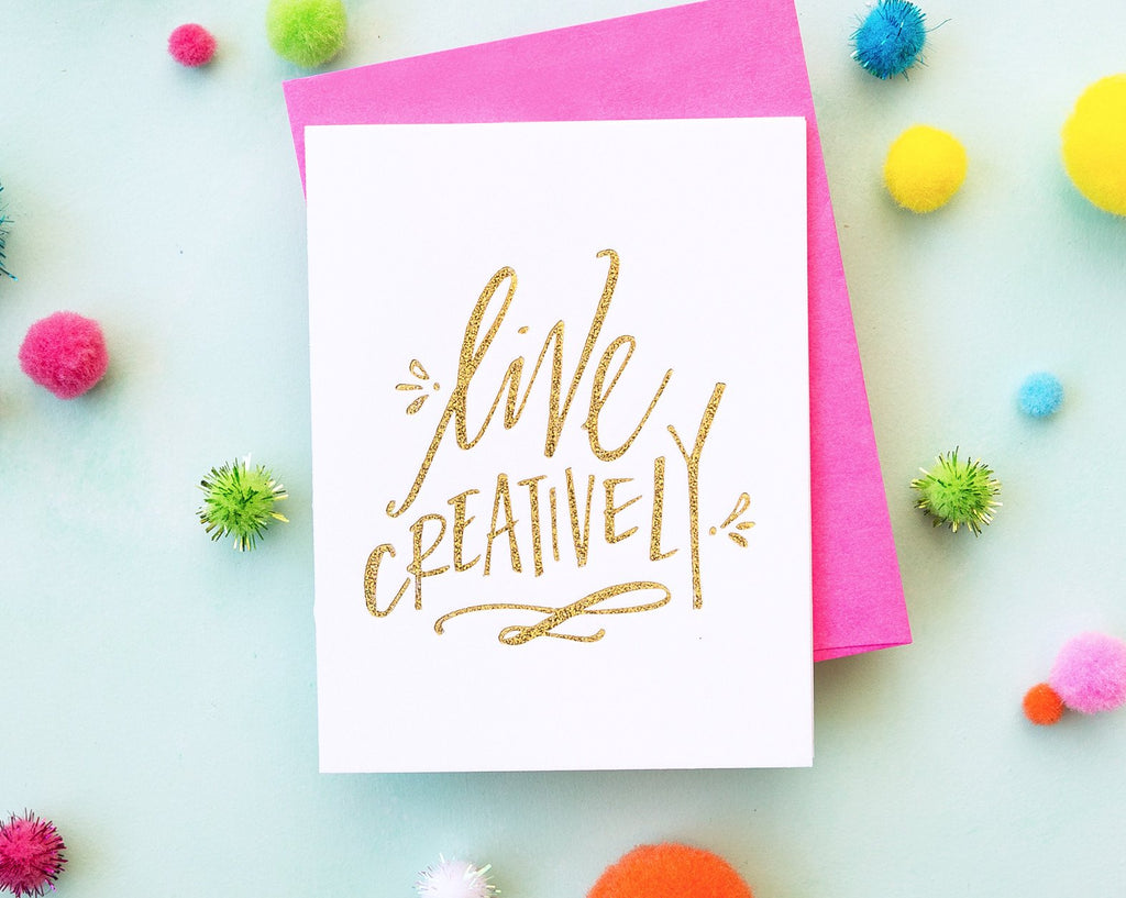 Live Creatively Card