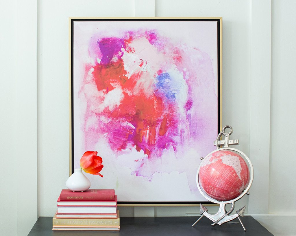Ruby Crush Abstract Canvas