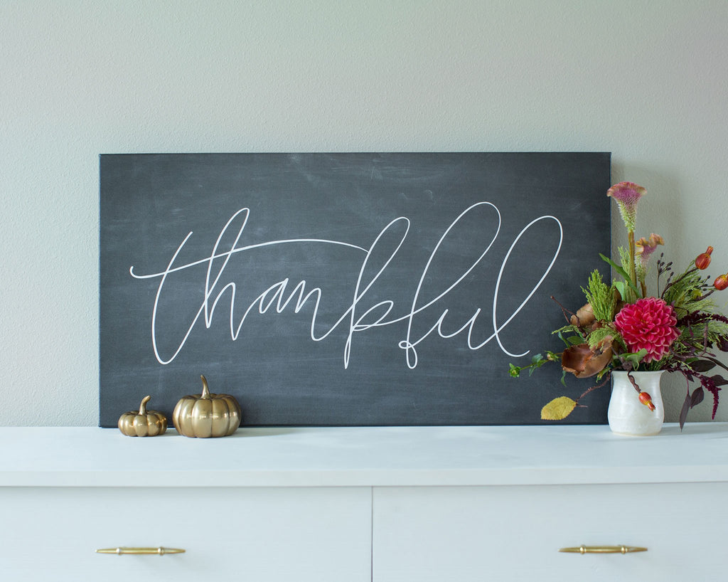 Thankful Canvas