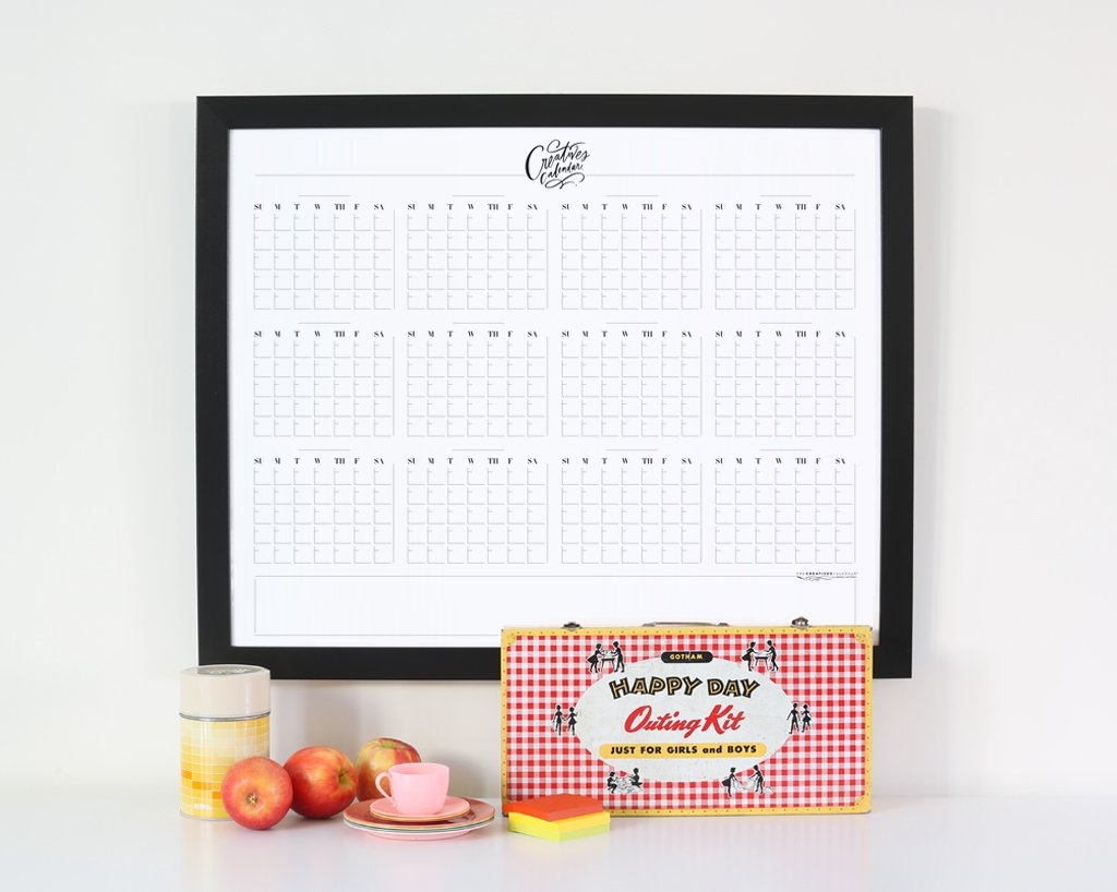 Perpetual Creatives Calendar® Type Days / Blank Months