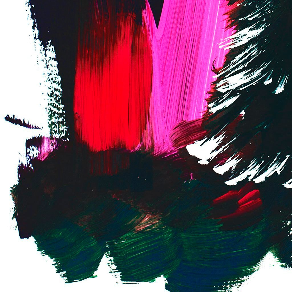Black Tree With Pink Abstract