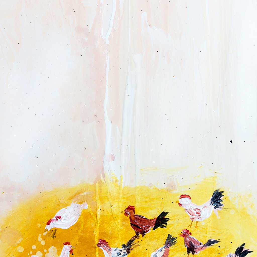 Cheery Chickens Abstract