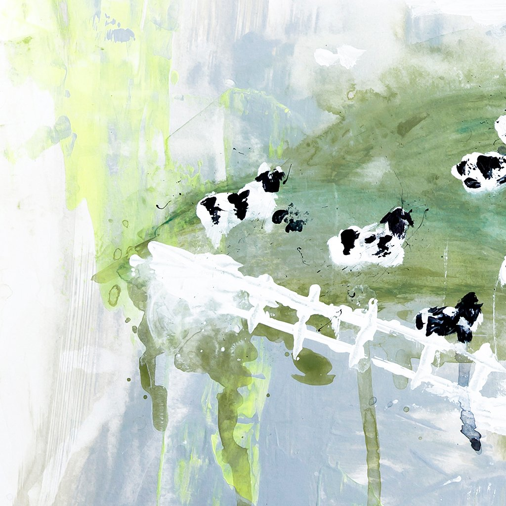 Contented Cows Abstract