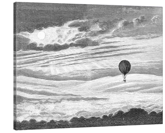 Hot Air Balloon Lithograph