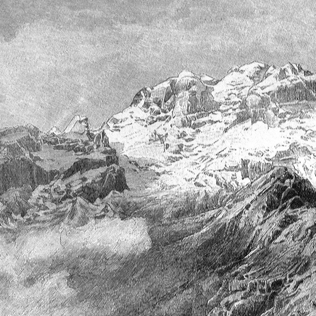 Mountain View Engraving, 1895