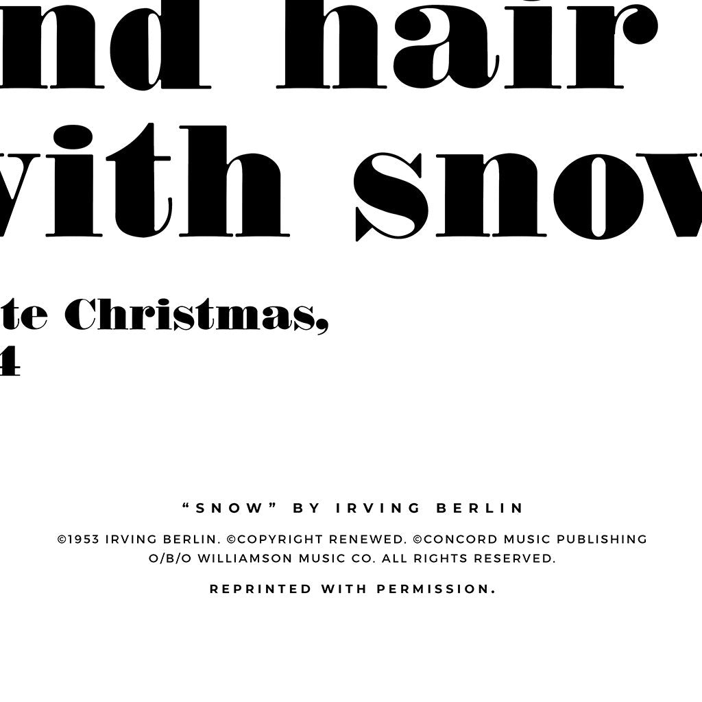 Snow, Typography