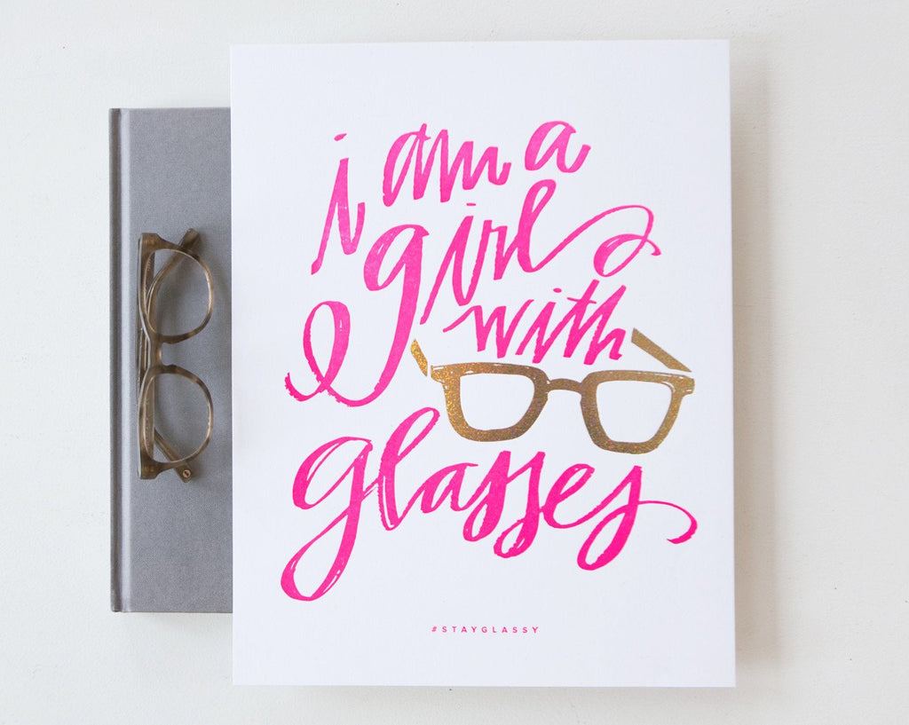 Girls With Glasses Art Print (11x14)