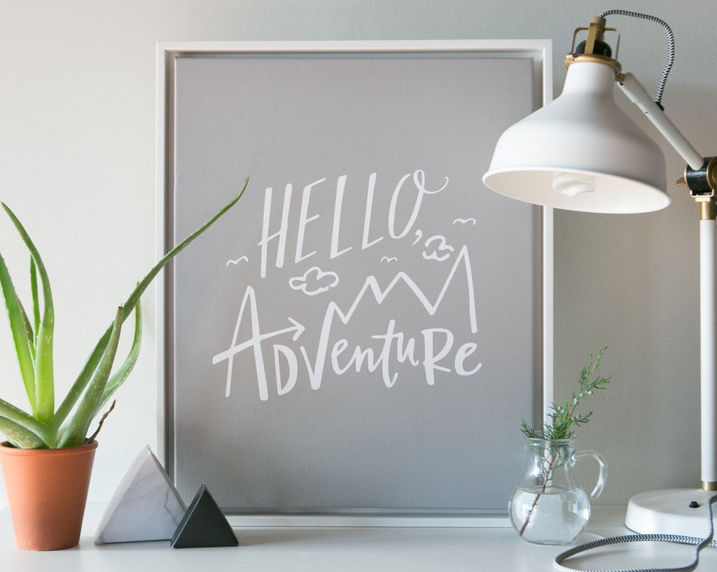 Hello, Adventure Canvas