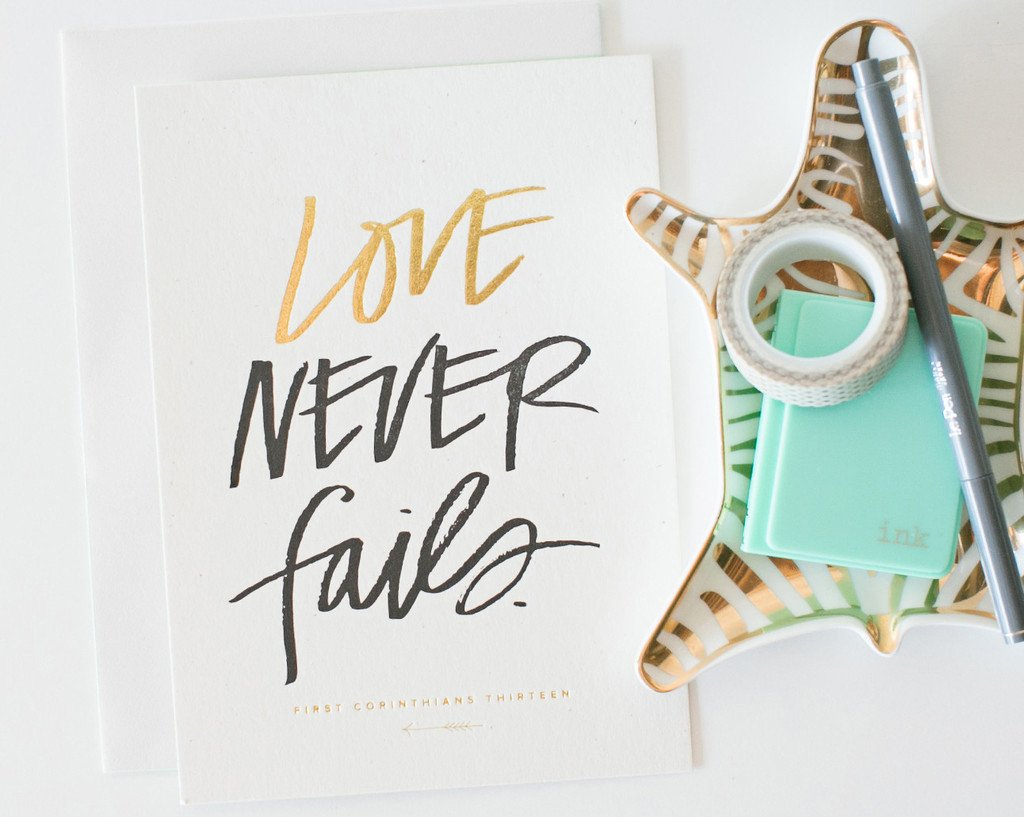 No. 38 Love Never Fails Mini Print/Card