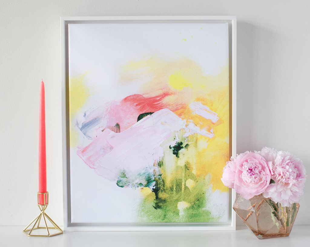 Blush Mountain Abstract Canvas