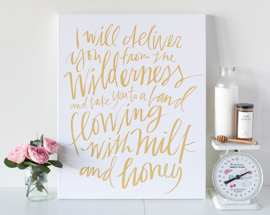 Milk & Honey Canvas