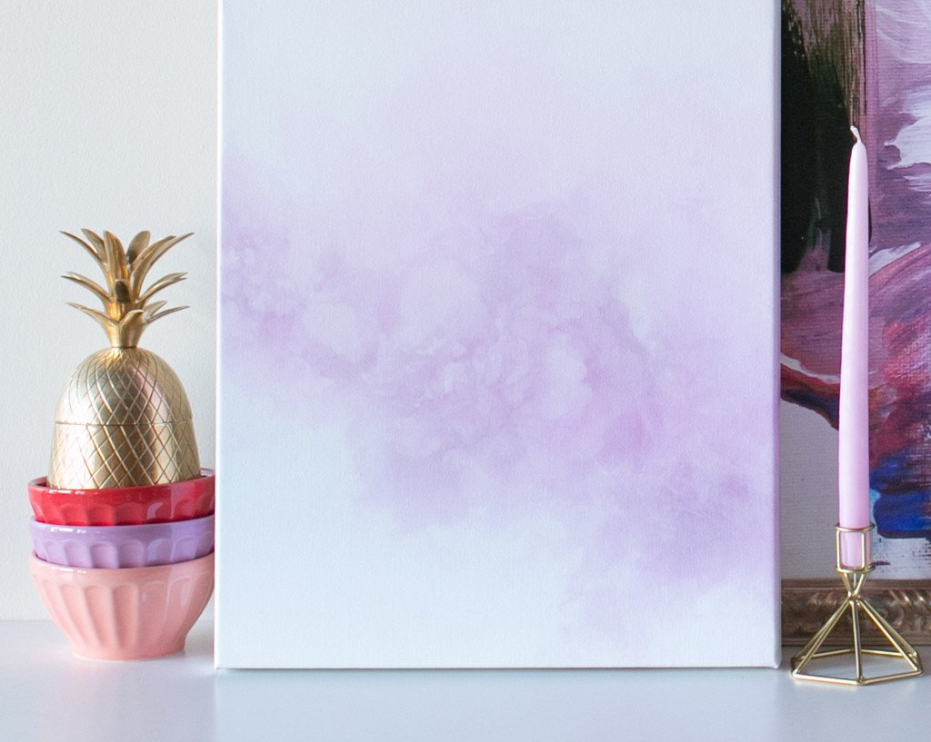 Lavender Cloud Canvas