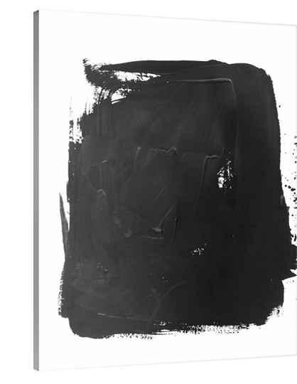 Black Splotch Abstract