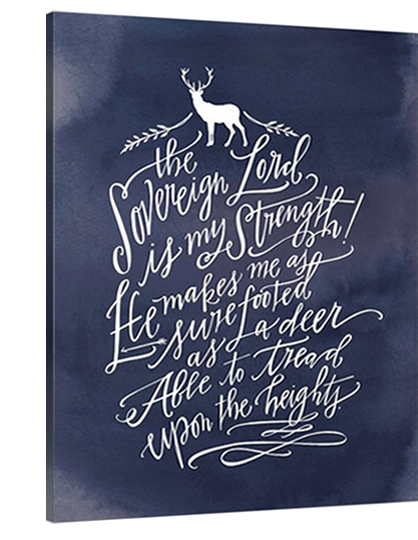 Deer Canvas (Habakkuk 3:19)