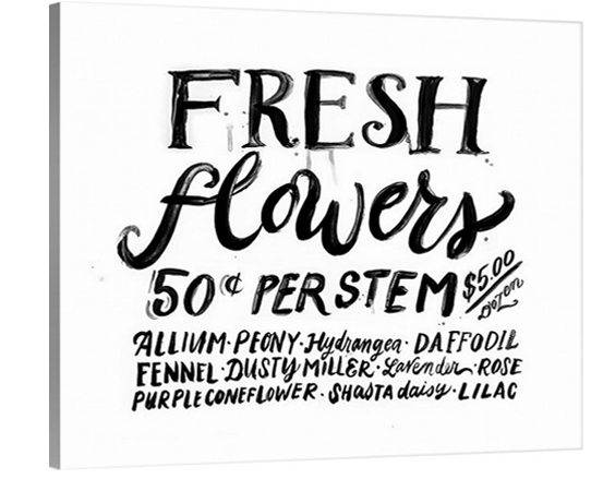 Fresh Flowers Sign