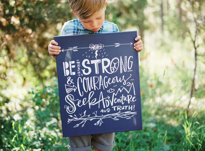 Be Strong Canvas