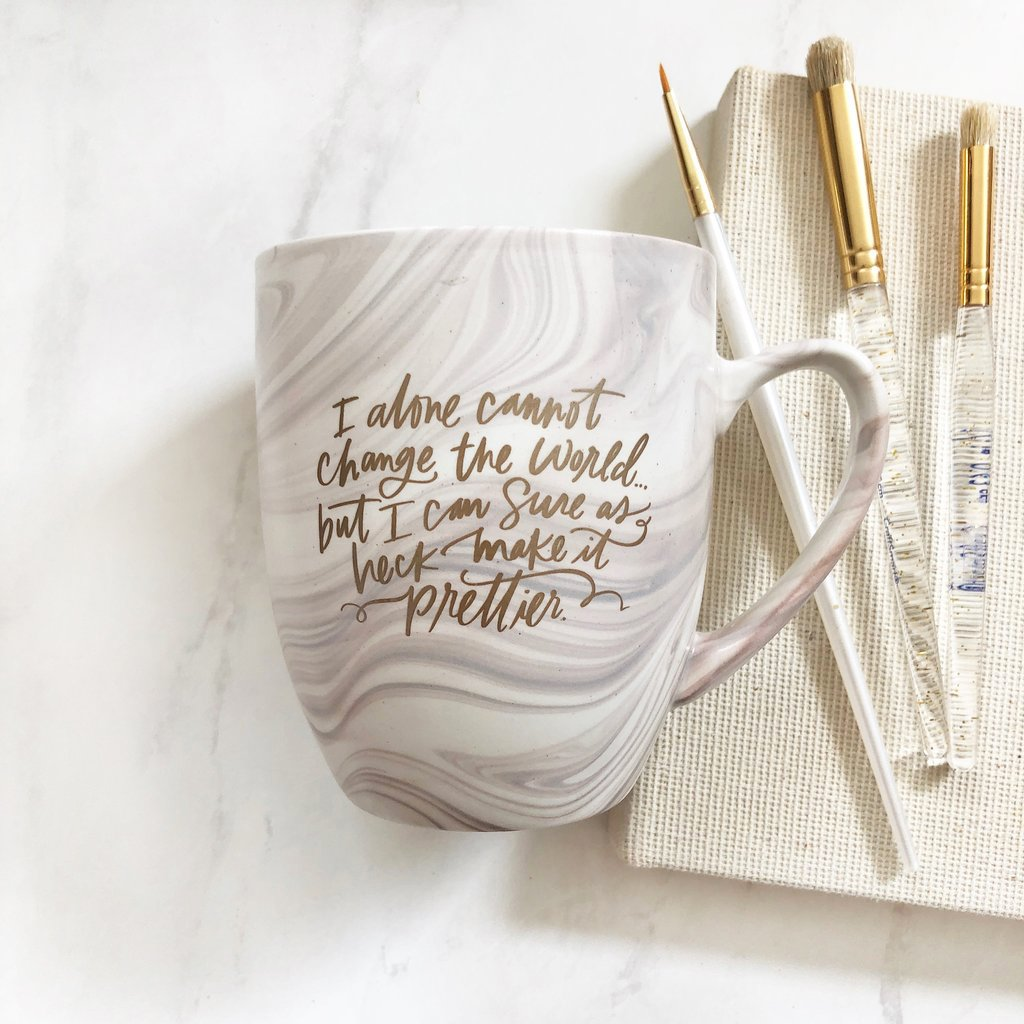 Make the World Prettier Marbly Mug