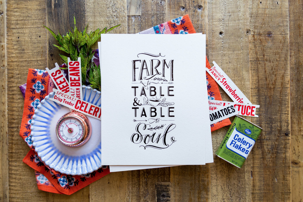 No. 116, Farm to Table Print