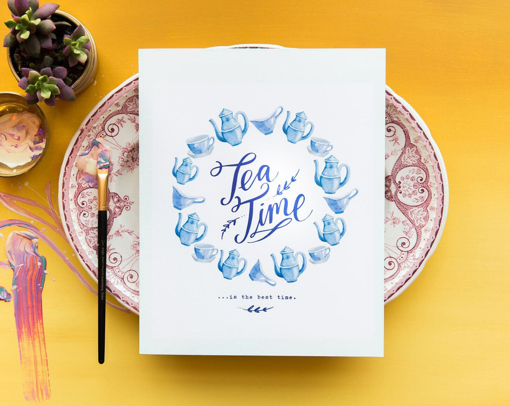 No. 118, Tea Time Print