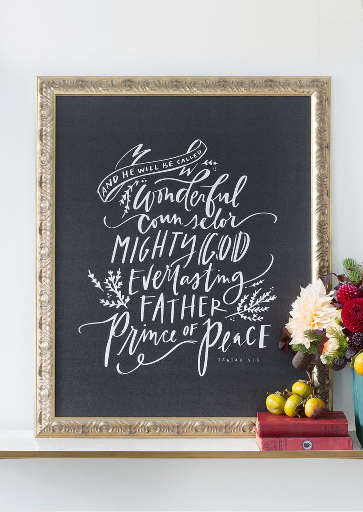 Wonderful Counselor (Isaiah 9:6) Canvas