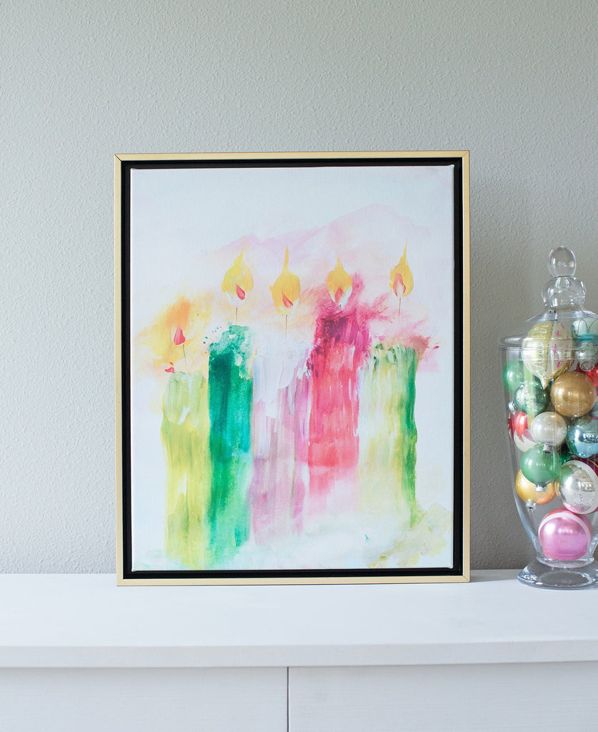 Advent Candles Abstract Canvas