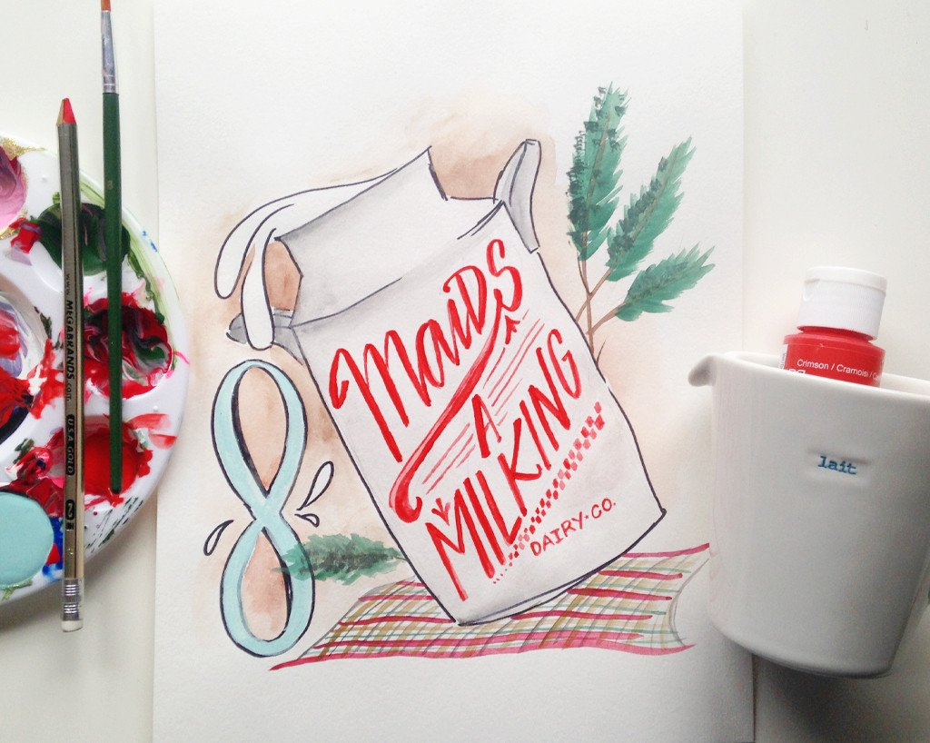 Days of Christmas Printable - 8th Day – Lindsay Letters
