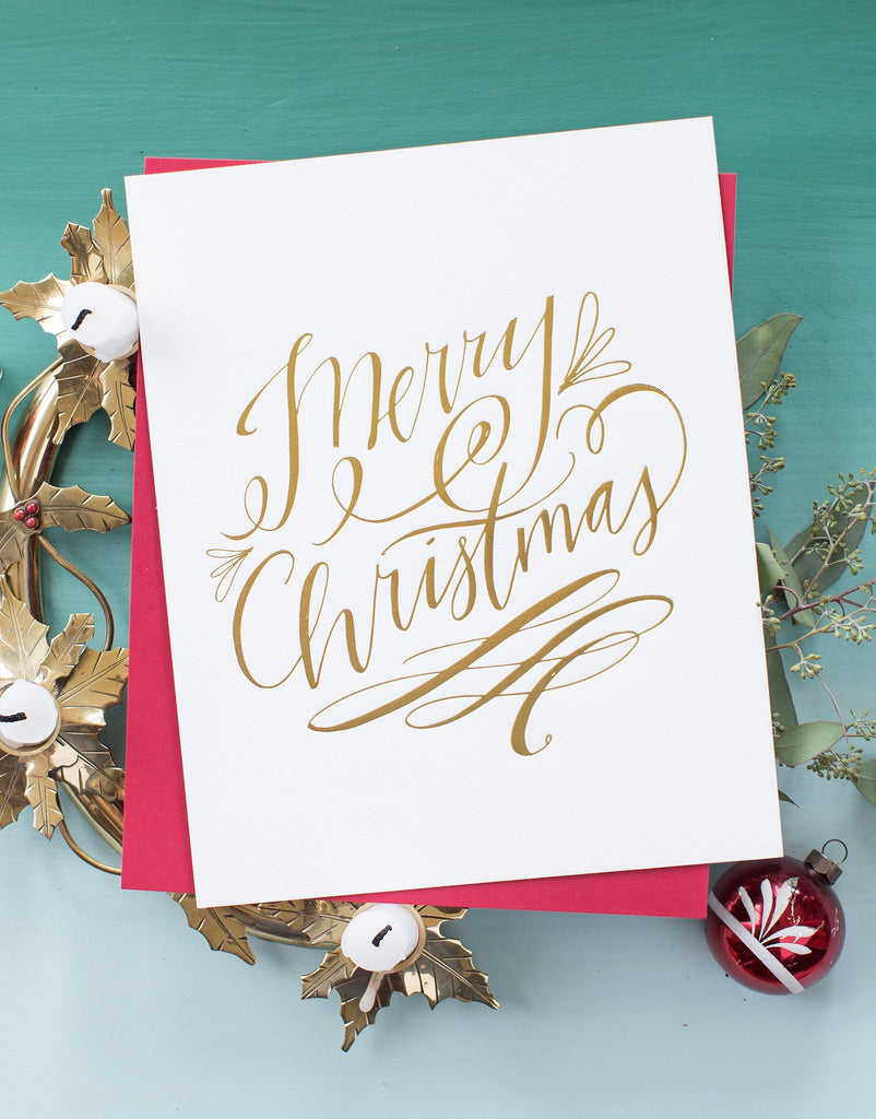 No. 95, Fancy Merry Christmas Print