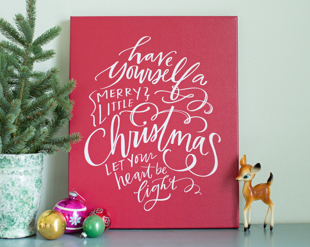 Merry Little Christmas Canvas
