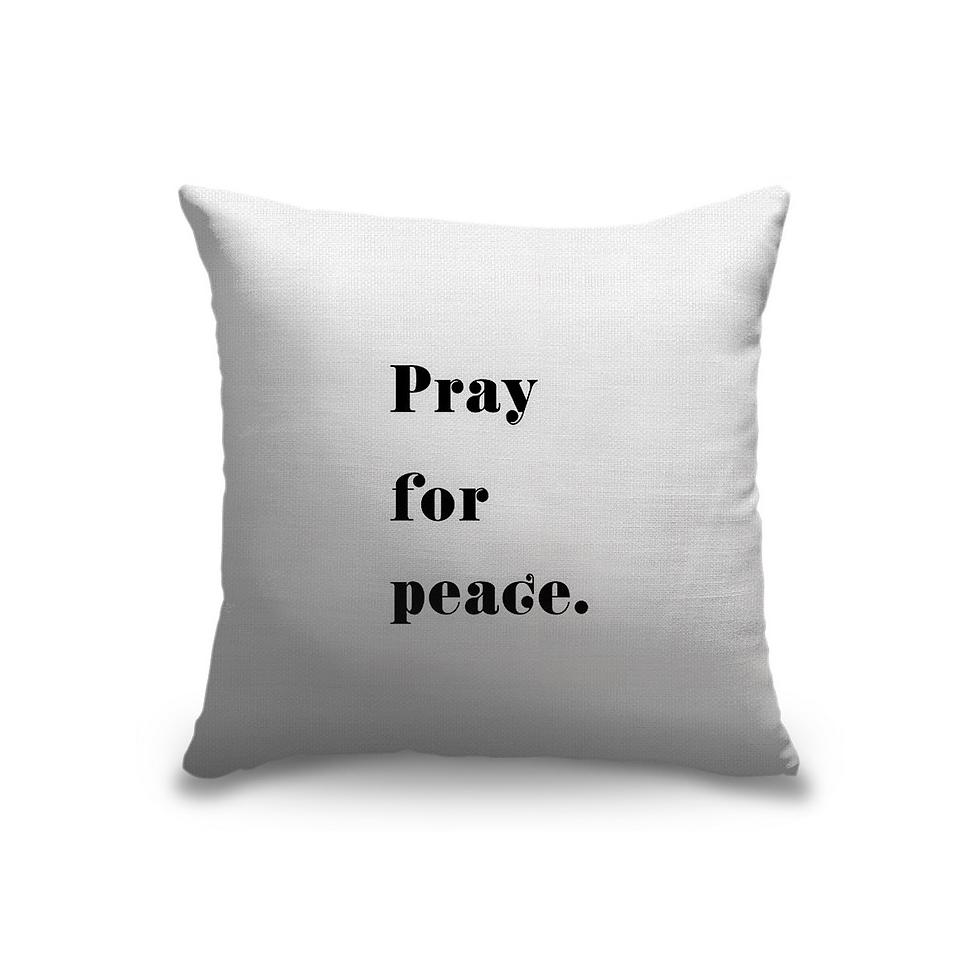 Pray for Peace Pillow