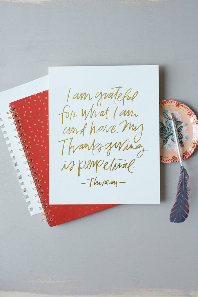 No. 86, Perpetual Thanksgiving Print