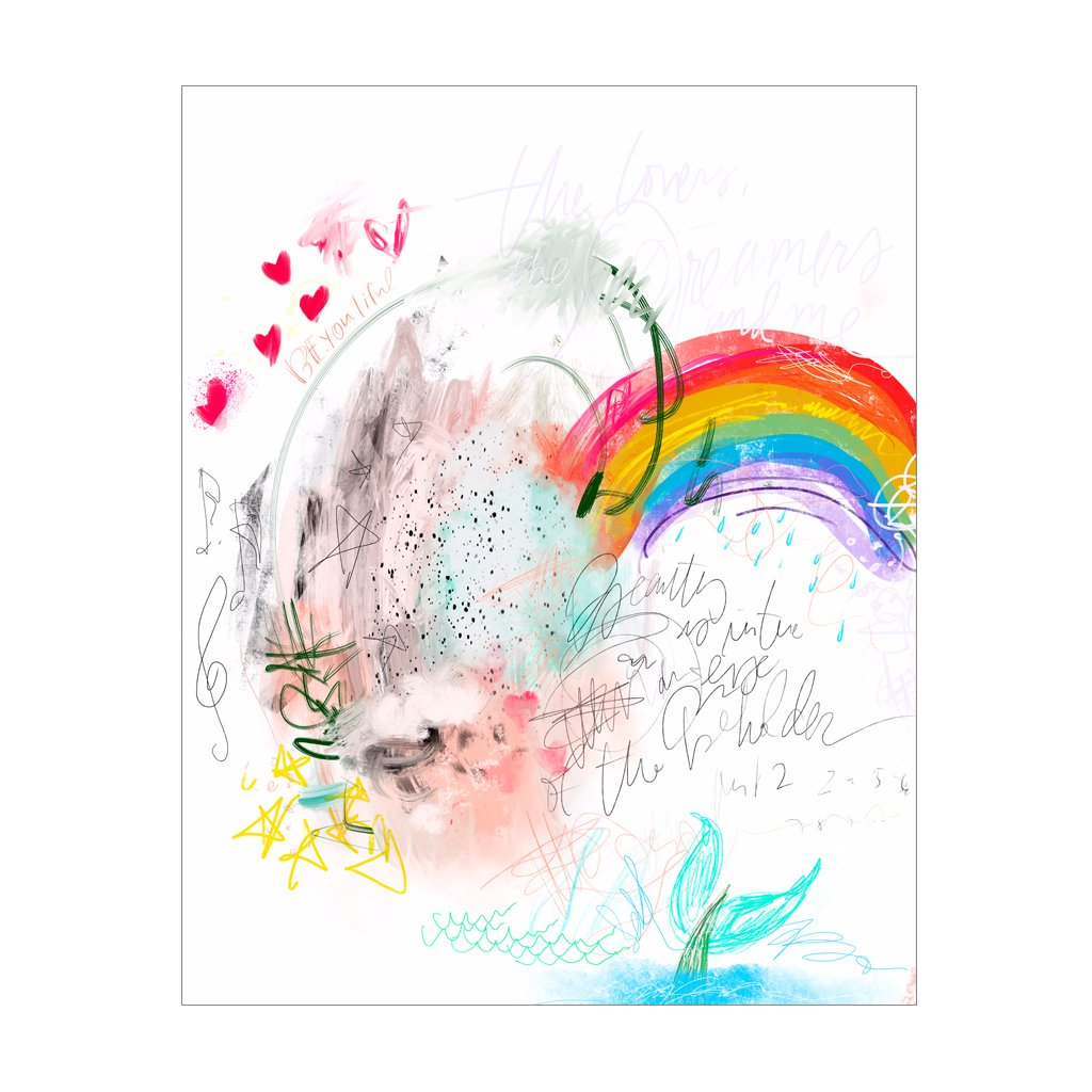 Rainbow Doodle, Gift Canvas