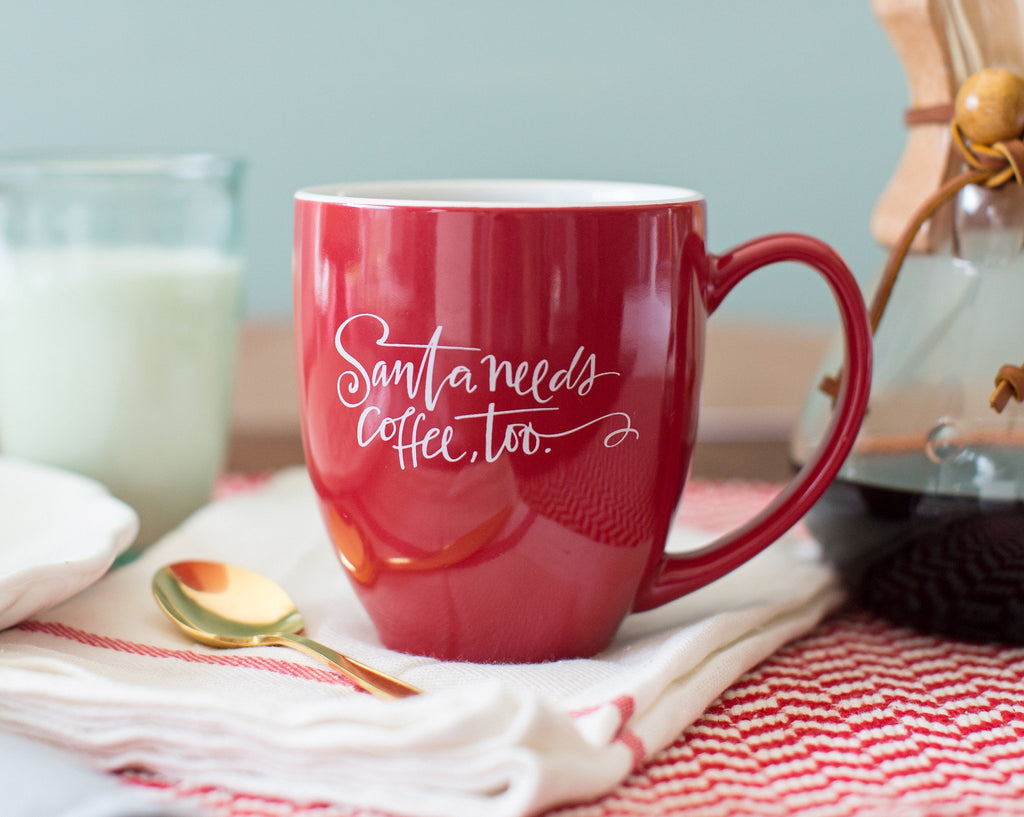 Santa Needs Coffee Bistro Mug