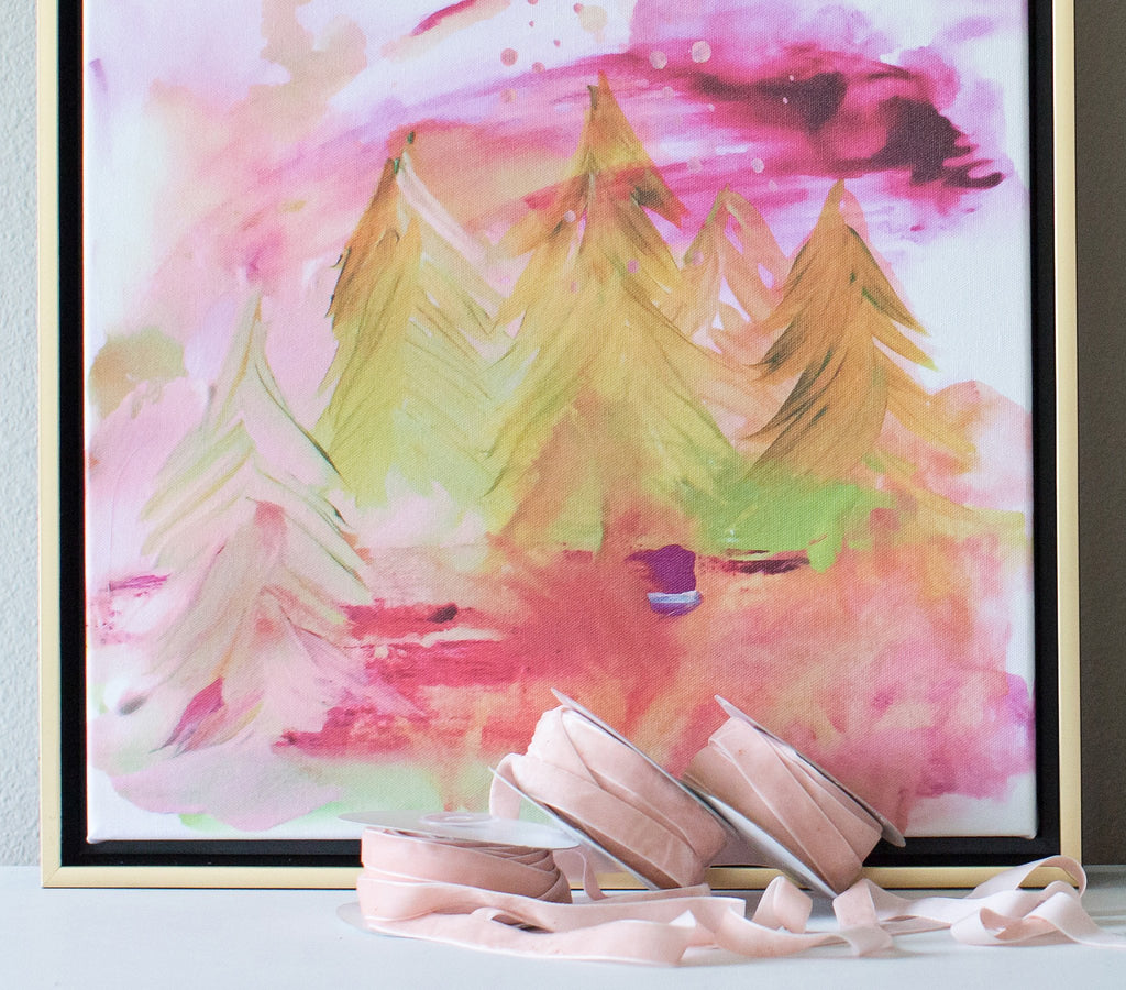 Sugarplum Forest Abstract Canvas