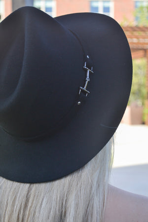 Black Buckle Hat